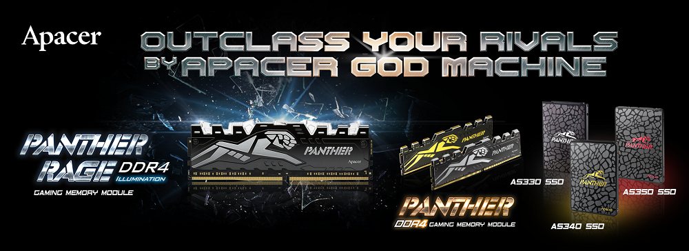 Apacer PANTHER Series-DDR4 and SSD