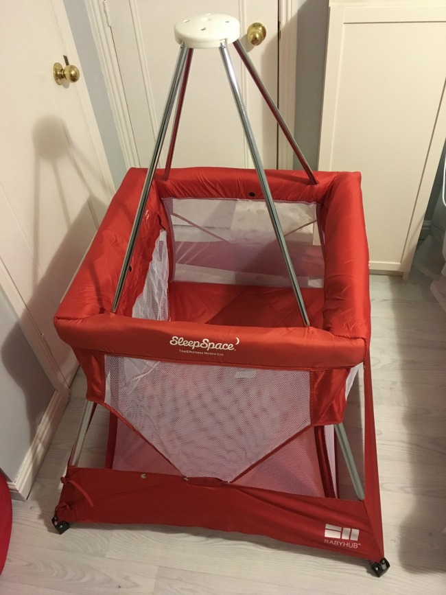 Babyhub-sleepspace-travel-cot-fully-opened