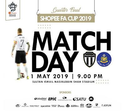 Live Streaming Terengganu vs Pahang Piala FA 1.5.2019