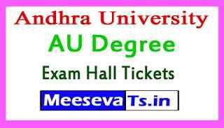 Andhra University Degree Exam Hall Tickets Download