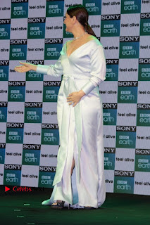 Bollywood Actress Kareena Kapoor Stills in Beautiful Silk Long Dress at Sony BBC Earth New Channel Launch  0014.jpg
