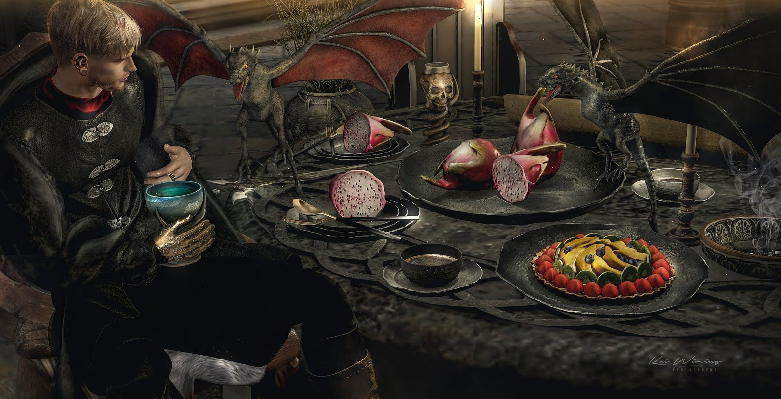 Andika Andika Regal Dragon Tea Setfull At Enchantment Blue