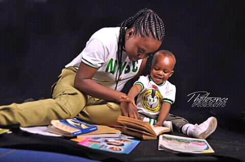 Check Out The Viral Photo Of This NYSC Slay Queen And Her Son