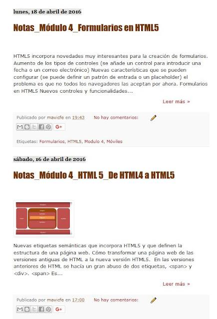 Resumen de entradas en Blogger_Texto bajo las imágenes o Thumbnails