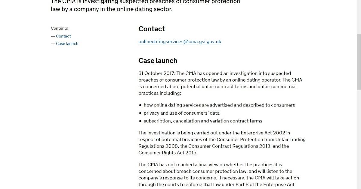 Online dating government regulation