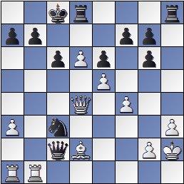 Partida de ajedrez Petrosian vs. Kasparian (posición después de 28. cxd6)
