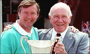 Sir Alex Ferguson and Sir Matt Busby together