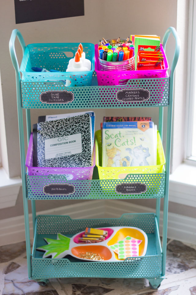 Make homework fun with this DIY homework station!