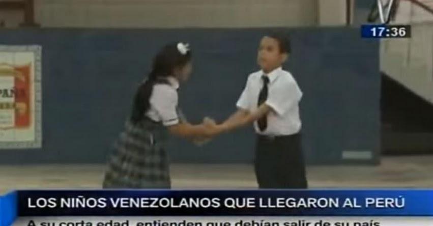 Esto piensan los niños venezolanos que hoy estudian en el Perú