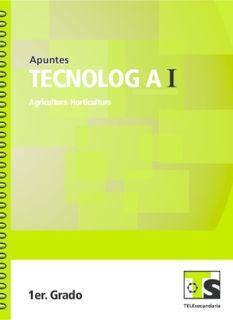 Libro de TelesecundariaTecnología I Agricultura HorticulturaPrimer grado2016-2017