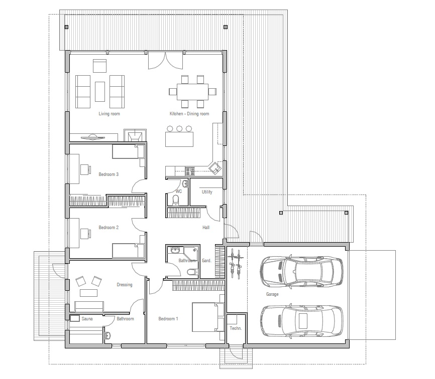 Affordable Home Plans: Affordable House Plan CH126