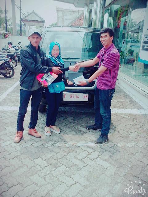 penyerahan kendaraan suzuki atas nama Nunu Nugraha Futura pickup