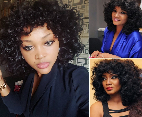 omotola jalade mercy aigbe curly wigs