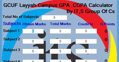GPA And CGPA Calculator For GCUF