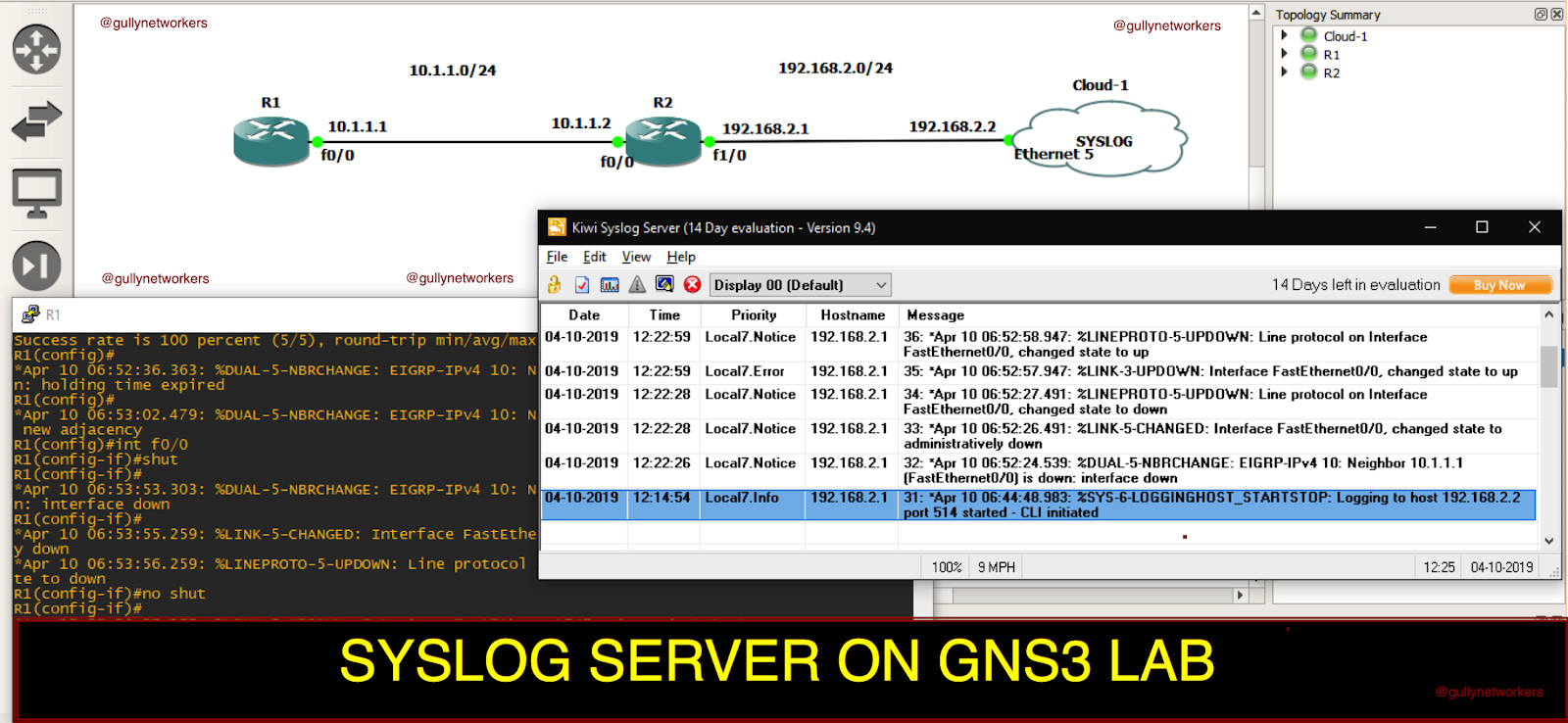 gullynetworkers: SYSLOG SERVER ON GNS3 LAB