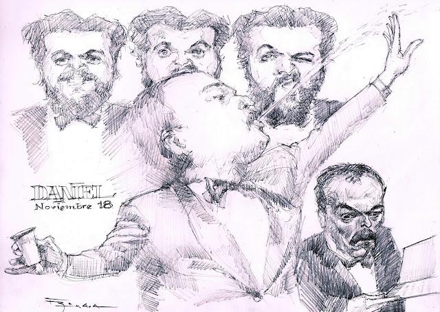 Rabinovich Les Luthiers caricatur fede bengoa