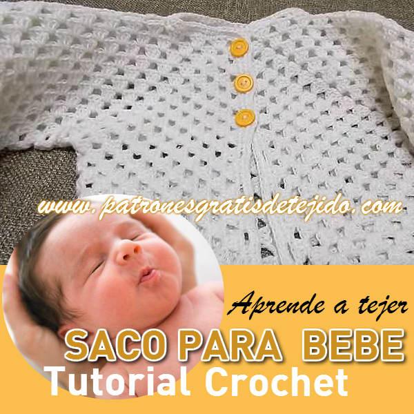 como se teje una chambrita para bebe con gancho