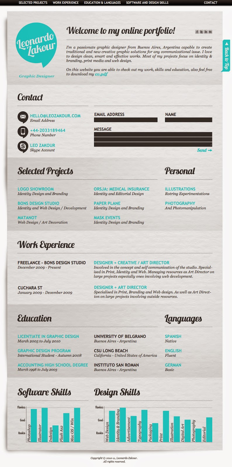 Examples of Creative CVs / Resumes