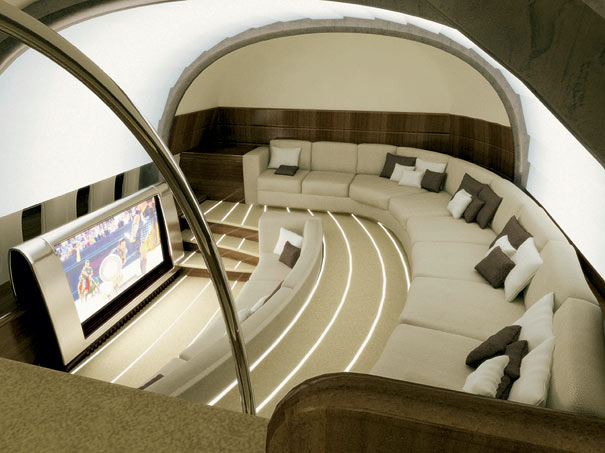 flying house luxury private jet interiors. Black Bedroom Furniture Sets. Home Design Ideas