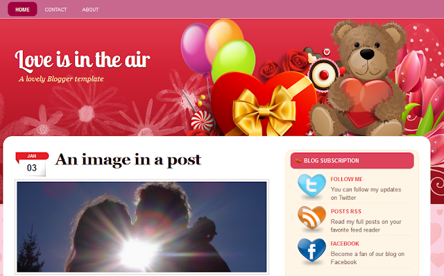 Romantic Love Theme Blogger Template
