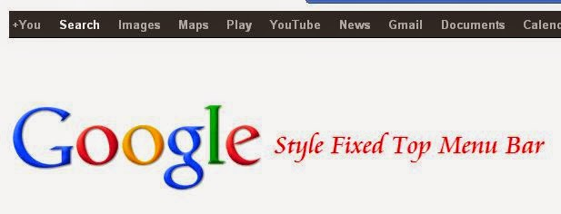 top menu bar mirip google