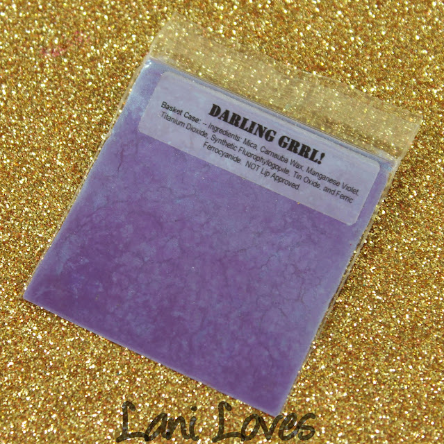 Darling Girl Cosmetics Eyeshadow - Basket Case Swatches & Review