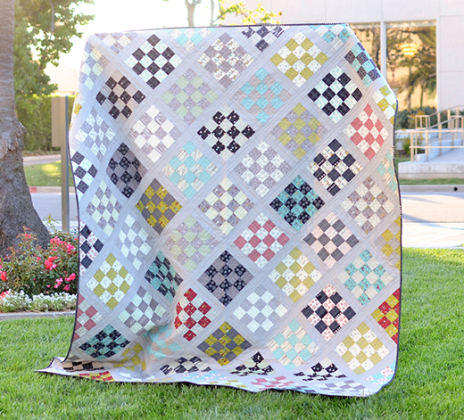 Road Fifteen Sixteen Patch Quilt Free Tutorial