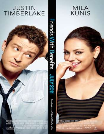 Poster Of Friends with Benefits 2011 Dual Audio 350MB BRRip 480p ESubs Free Download Watch Online Worldfree4u