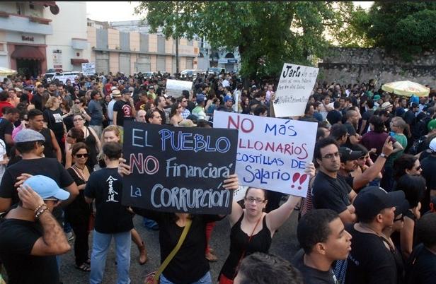 Resultado de imagen para protestas rd