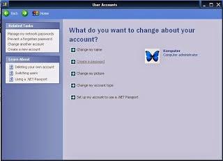 Cara Membuat Password di Komputer Windows XP
