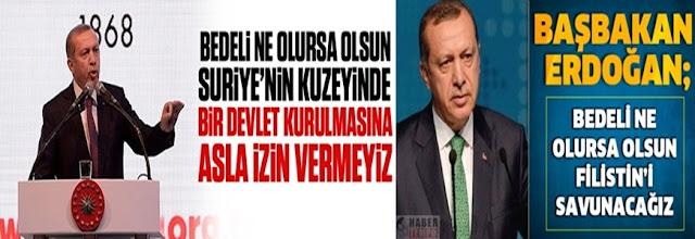 erdoğan iki yüzlü açıklamalar