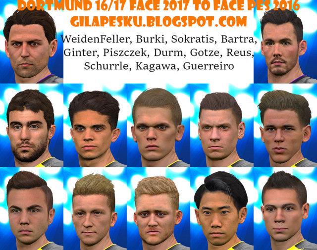 Dortmund 2016-2017 Face 2017 to PES 2016