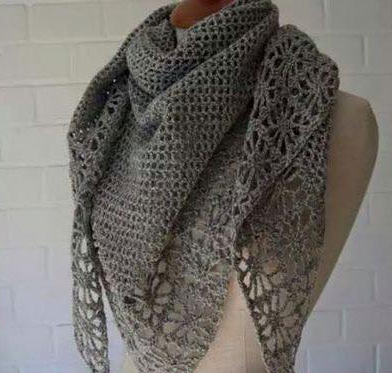 Bufanda Triangular a Crochet