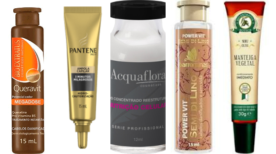 ampolas de tratamento cabelo