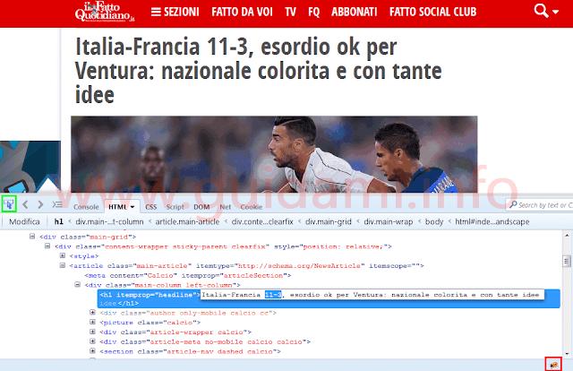 Falsificare notizie su Firefox con addon Firebug