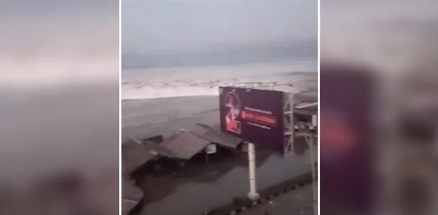 Palu dan Donggala Diterjang Tsunami 2 Meter