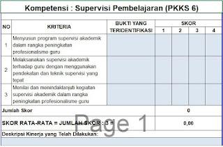 PKKS 6 berisi Tentang Kompetensi Supervisi Pembelajaran, https://gurujumi.blogspot.com/