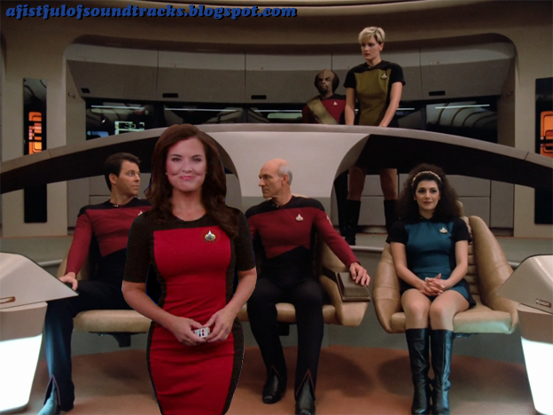 Peep security officer Tasha Yar in a miniskirt. It's the only time she wore one. Unless you're Maggie Q in Nikita or Magnus: Robot Fighter, I don't think fighting enemies in a miniskirt is such a good idea.