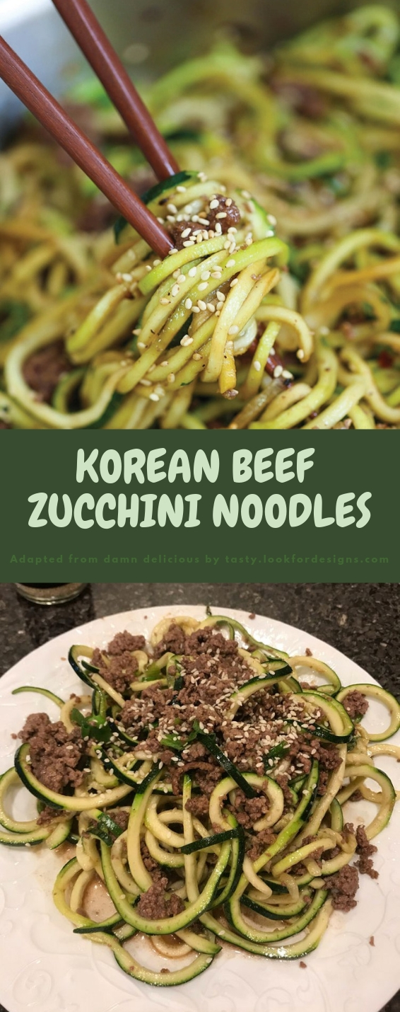 KOREAN BEEF ZUCCHINI NOODLES RECIPES