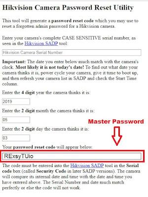 Cara reset password DVR hikvision dengan master password