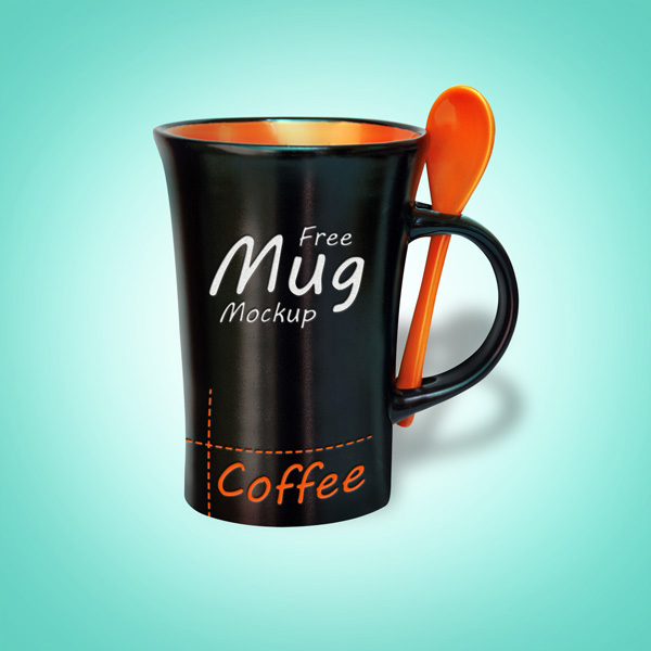 Download Packaging Mockup PSD Terbaru Gratis - Free Black Mug Mockup PSD