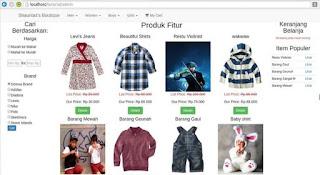 Source code aplikasi butik toko online dengan php mysql