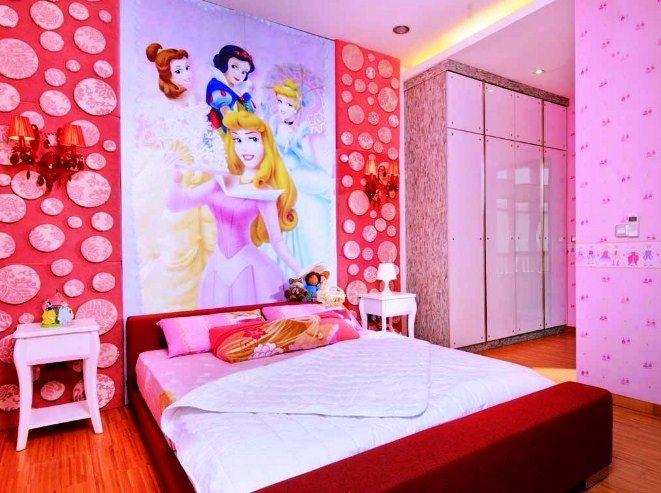 Desain Kamar Tidur Anak Perempuan Princess Modern