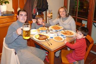 Cenando en Múnich.