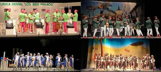 Las cuatro agrupaciones valverdeñas pasan el corte de semifinales en el Concurso de Carnaval de Valverde