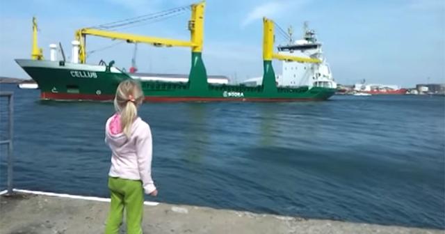 Μικρή κάνει πως κορνάρει σε πλοίο αλλά δεν περίμενε αυτό που ακολούθησε [βίντεο]