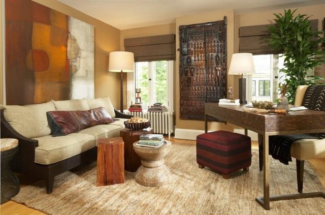 afrikanische einrichtung wohnzimmer | minimalistische haus design
