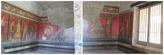 Gli affreschi che rappresentano i misteri dionisiaci