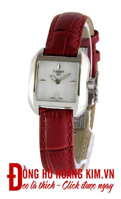 Đồng hồ đeo tay nữ Tissot dây da giá rẻ dưới 2 triệu