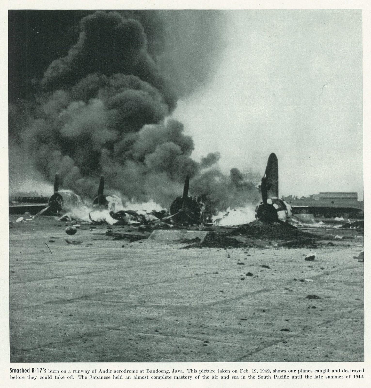 Smashed B-17s Andir 19-02-1942